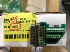 PN: VS-15-ST-DSUB/16-MPT-0,5; 1688078; 15 pin male insert