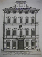 G. B. falda 'Palazzo Bonaparte (D' testimoni), palazzi di Roma 'acquaforte ~ 1675