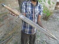 JJhunters custom hand made Damascus steel big beautiful sword