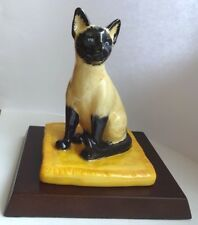 Bone China hand painted Siamese Cat Royal Doulton - Cat Collection 2003