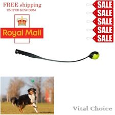 "25"" DOG BALL THROWER LAUNCHER WITH TENNIS BALL PUPPY PET TOY TRAINING EXERCISE"