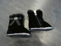 Michael Kors Baby Sweet Velour Fur Boot shoes infant new crib black