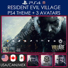 Resident Evil Village PS4 Theme RE8 PS4/PS5 PSN Avatar Chris Redfield USA CAN NA