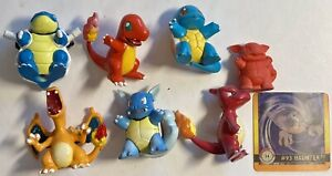 "1.5"" Tomy Pokemon Vintage Figure Lot Collectible Eraser Etc"