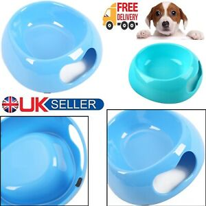 New Pet Dog Cat Puppy Exquisite Plastic BLUE Food Feeding Water Dish Bowl Feeder