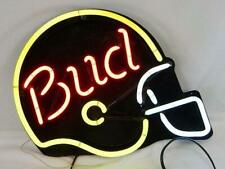 "Vintage Budweiser (Bud) Football Helmet Shaped Bar Pub Decor Neon Light Sign 24"""