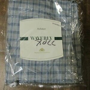 NEW Waverly Luxury Collection Full Bedskirt Pimlico Plaid Blue 54x75 15""