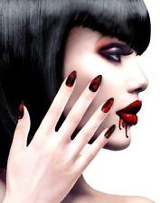Stiletto Blutbad Fingernägel für Damen NEU - Styling Schminke Karneval Fasching