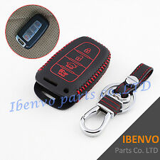 4 Buttons Leather Car Key Chain Clasp For Hyundai Sonata Equus Elantra Veloster