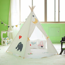 Large Cotton Canvas Kids Boys Girls Cute Elephant Teepee Outdoor Tent