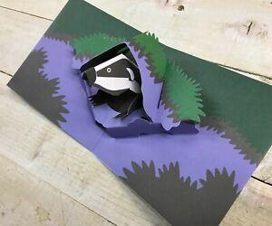 Badger night animal Pop Up Card By 2ToTango TTT0773