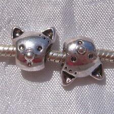 6 breloques perles CHAT métal BRONZE 22x16mm DIY création bijoux DIY Bijoux MB71