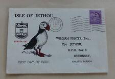 GB Isle Of Jethou mit Aufdruck Europa Marken auf Schmuck-FDC 1.12.1961