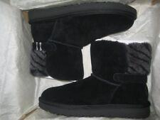 New UGG Kids Analia Twinface Sheepskin Black Boots Size 13
