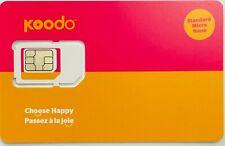 Koodo Mobile PostPaid Multi SIM Card 3in1 Nano, Micro Standard size LTE Wireless