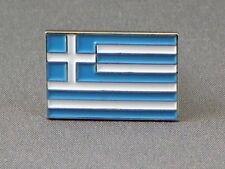 Greece / Greek Flag Enamel & Metal Lapel / Pin Badge - 24mm BRAND NEW