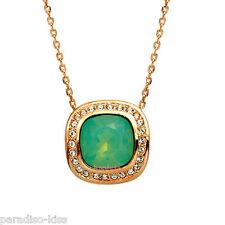 Collana da Donna Cristallo Swarovski Elements Elegante Verde W98