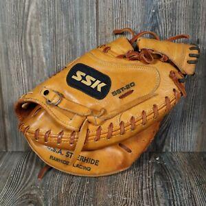 SSK Catcher's Mitt SST-20 Right Hand Throw Steerhide Broken Lace