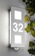 Hausnummernleuchte Außenleuchte Bewegungsmelder E27 Edelstahl