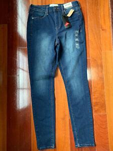 New MUDD Woman's Juniors Size 7 High Rise Jegging Jeans Dark Blue Denim NWT