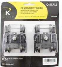 K-Line K-4620SP O 2 Rail Passenger Trucks Horizon & Superliner w/Power Pickups
