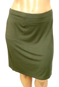 J. jill green spandex stretch elastic waist women's pull on mini skirt 2X