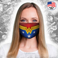 Wonder Woman adult face mask-Superhero cosplay- Washable & Reusable - free shipp