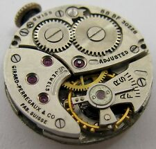 early Girard Perregaux GP 88 BF30228 17 j. watch movement & dial for part ...