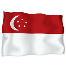 "SINGAPORE Flag car bumper sticker decal 6"" x 4"""