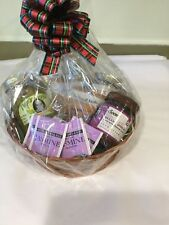 gift basket with gourmet peppers, chocolate spread, teas and more