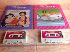 Disney Titles Book And Cassette Tape THE JUNGLE BOOK ALADDIN LAGO RETURNS