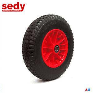"""16"""" 4.80/4.00-8 Solid Wheelbarrow Wheel 25mm Bore Cart Tyre Trolley Rust Proof"""