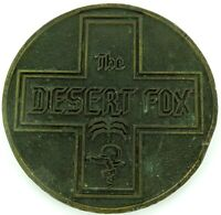 ".RARE / LARGE / HEAVY SET cWW2 ""THE DESERT FOX"" MEDALLION."