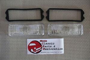 47-53 Chevy GMC Truck Glass Park Light Lamp Lens & Gasket Set Four Pieces