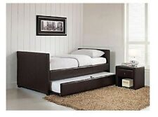 Adult Daybed with Trundle Twin Size Frame Upholstered Bed Headboard Furniture