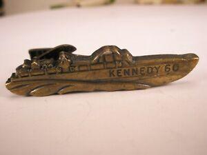 -Kennedy 60 PT Patrol Boat Vintage Tie Bar Clip president john f