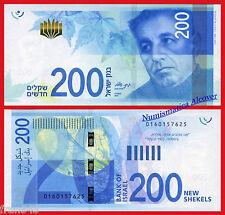 ISRAEL 200 New shekel sheqel 2015 Pick NEW  SC /  UNC
