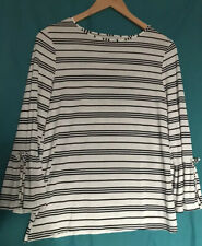 Black And White Striped Top Size 10