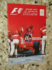 57 EME GRAND PRIX MONACO 1999 AFFICHE ORIGINALE F1 FORMULE 1 FORMULA ONE PRINCE