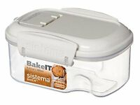 Sistema Klip It Mini Bakery Storage Container, Clear/White, 285 ml