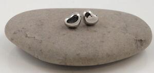 Stainless Steel 3D Heart Studs Earrings UK Seller