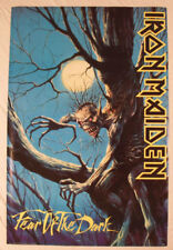 VINTAGE RARE Iron Maiden 1992 Promo Poster Brand Fear Of The Dark HEAVY METAL