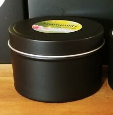 Travel Tin Soy Candle Medium - Matte Black 30hrs - Choose your fragrance
