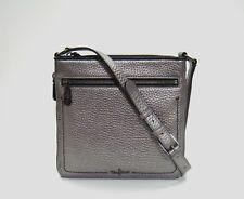 Cole Haan Village Sheila Dark Silver Leather Crossbody Bag