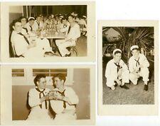 1952-53 Guantanamo Bay sailor Real Photos drinking Schlitz / Pabst beer in club