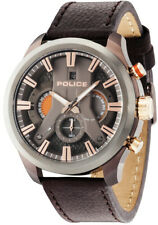 Watch Man Police Cyclone R1471668002 Leather Brown
