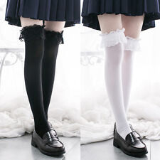 Japanese Lolita Fashion Lace Stocking Velvet  Socks Thigh stockings #D18