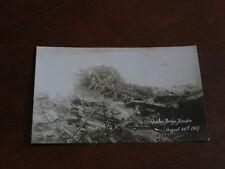ORIGINAL REAL PHOTO POSTCARD - QUEBEC BRIDGE DISASTER, CANADA - AUGUST 1907.