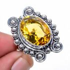 Aaa+++ Citrine Gemstone 925 Sterling Silver Jewelry Ring s.6 S2792