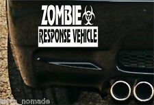 Zombie Outbreak Sticker Decal 4x4 Land Rover Bumper Hunters JEEP Off Road White